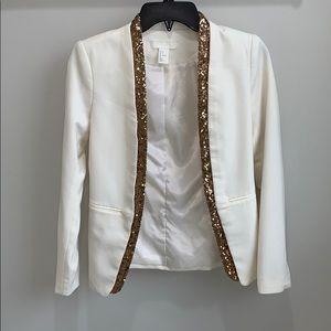 White & Gold Blazer